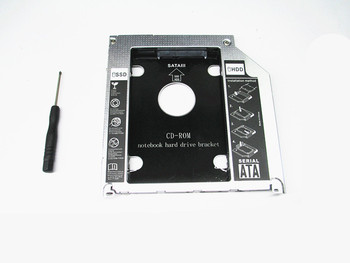 2016 new style 2nd Caddy For Apple Macbook Pro A1278 A1286 A1297 SATA HDD to ODD DVD RW BOX Caddy 9.5mm with LED light