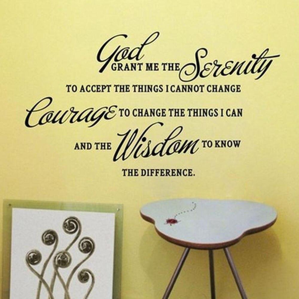 Dios, concédeme la serenidad Adhesivos de pared arte Decal sticker ...
