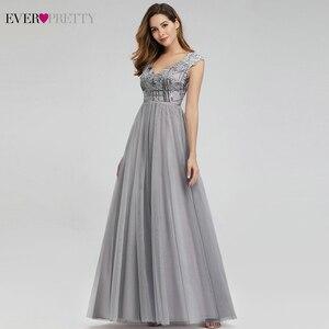 Image 4 - Платье длинное ТРАПЕЦИЕВИДНОЕ с V образным вырезом и блестками