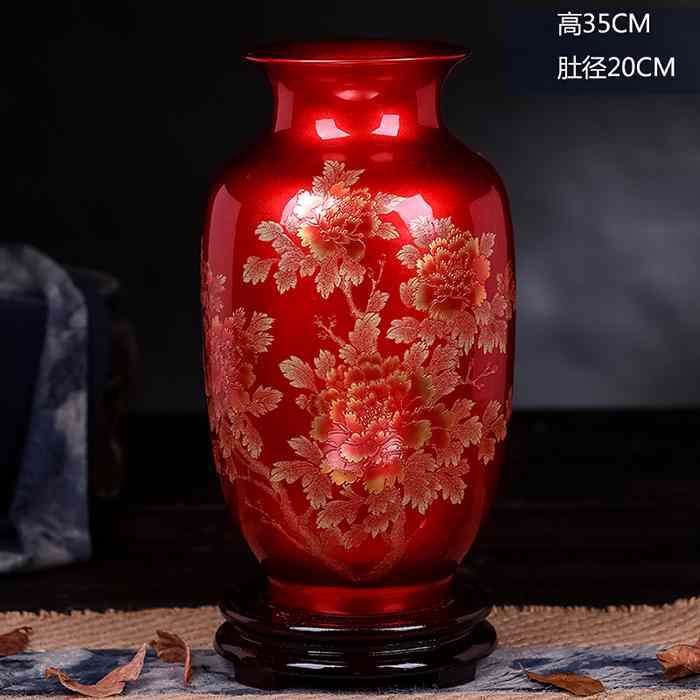 Crystal Glazed Peony Flower Ceramic Vases for Home decorCrystal Glazed Peony Flower Ceramic Vases for Home decor