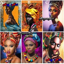5d diy diamond painting african women diamond embroidery full square resin beads picture puzzle diamant mosaic stickers big size(China)