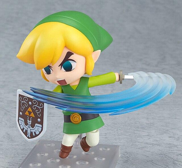 The Legend of Zelda Link Nendoroid PVC Action Figure 10CM Q Ver. Zelda The Wind Walker Link Collectible Model Toys Anime Doll