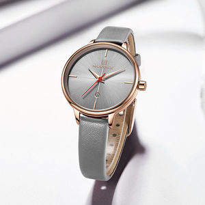 Image 2 - NAVIFORCE Women Watches Top Luxury Brand Quartz Watch Lady Fashion Leather Clock Waterproof Date Girl Wristwatch Gift for Wife
