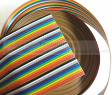 1 meter Flat Cable Dress rehearsal line 40 core 7 strands of wire diameter 1.1 mm pure copper wire rainbow free shipping