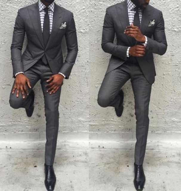 Hot Sale Men Pants Suit Slim Fit Jacket Best Man Business Party Classic Tuxedos 2 Pieces Prom Costume Homme Jacket+Pants