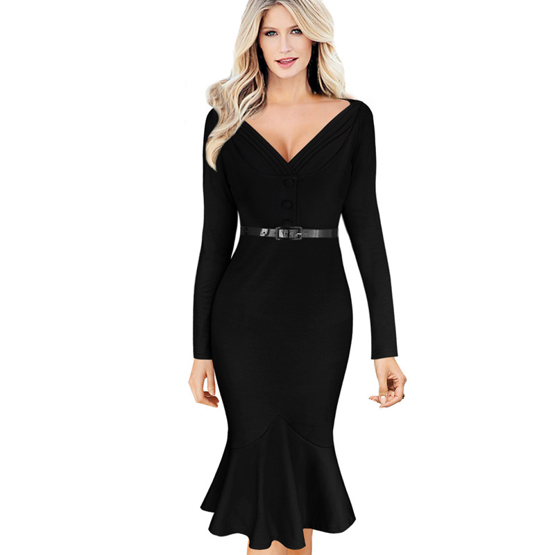 2016 Summer Autumn Dress Plus Size Casual Women Sexy ...