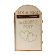 Personalised Wooden Wedding Card Holder Post Box Wall Decal Logo Mural Guest Cards Decorations Wedding Supplies Mailbox(China)
