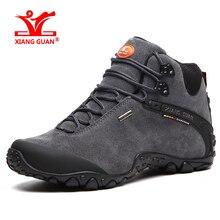 XIANGGUAN водонепроницаемые туристические ботинки для Для мужчин Прогулки Восхождение мужские кроссовки высокое противоскользящие Открытый Охота большой Размеры 39-48