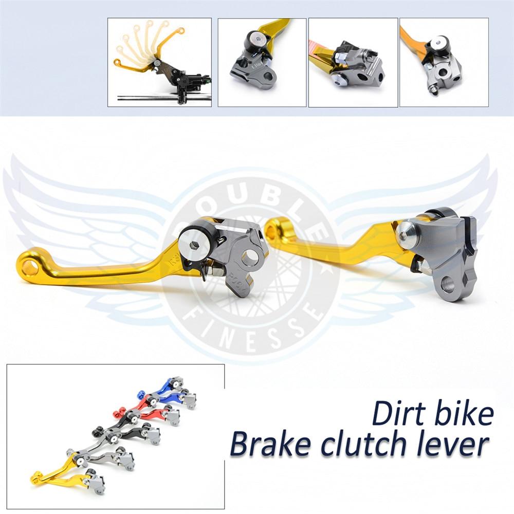 ФОТО motorcycle Pivot Brake Clutch Levers cnc brake clutch lever For Honda CR125R/250R 1992-2007 CRF 150R 2007-2015 XR650R 2000-2006