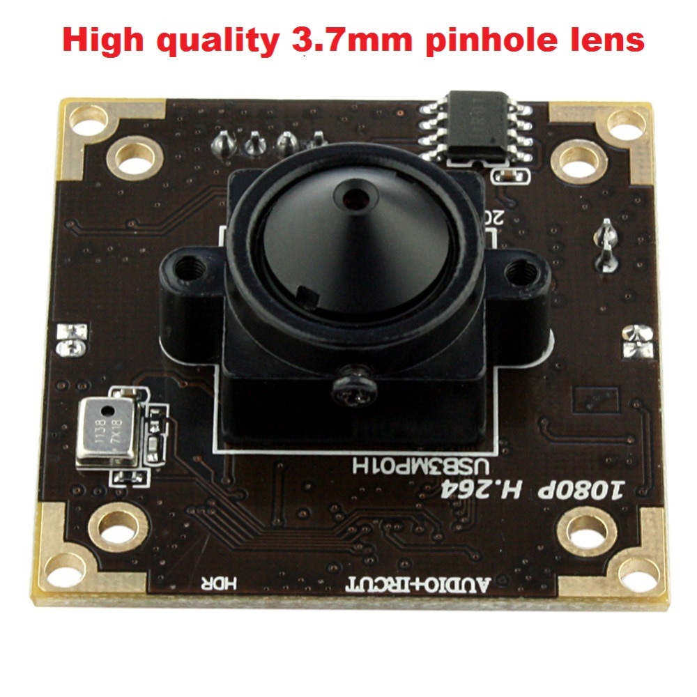WDR camera 1080P H.264/MJPEG/YUY2 Aptina AR0331  3.7mm lens mini cctv low light 0.05 lux usb camera board for andorid, linux