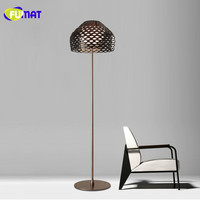 FUMAT Nordic Floor Lamp ABS Lampshade Floor Light Retro Metal Lamparas de pie Modern Pinecone Floor Lamps for Bed Room