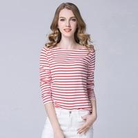 2018 Women Harajuku Shirt Rock Korean Women Tops Long Sleeve Stripe Shirts 4 Colors Blusa Cotton