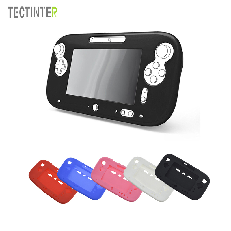 Ultra Soft Silicone Rubber Case for Wii U Body Protector Gel Gel Cover Skin Shell for Nintend WiiU Gamepad Accessories