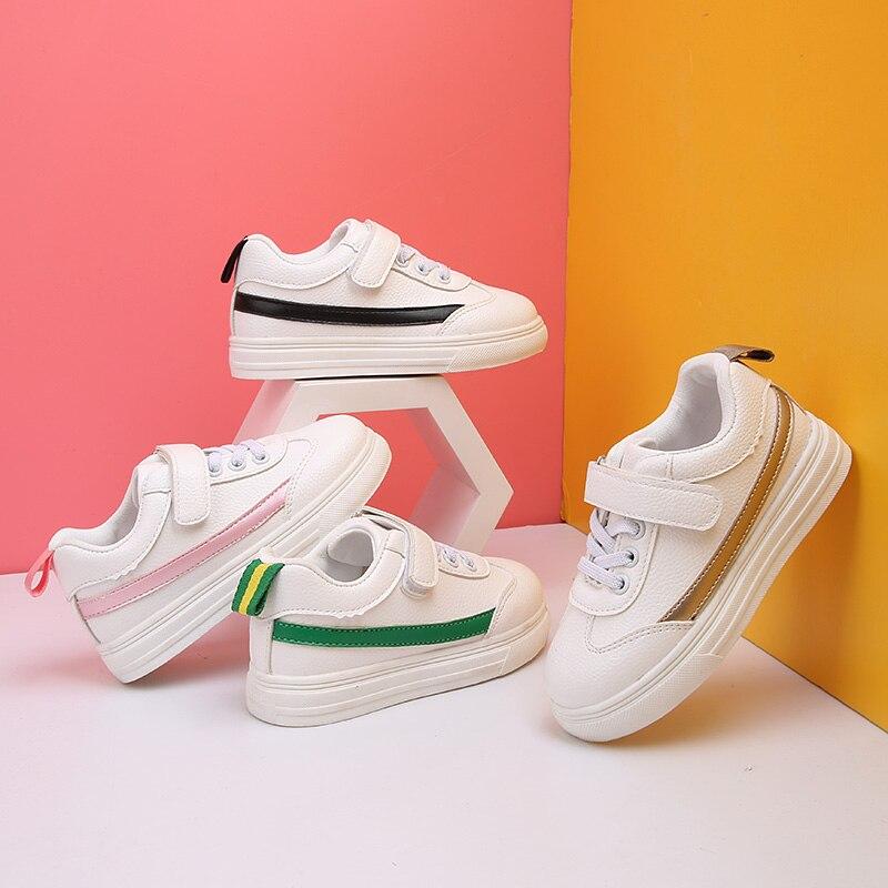 501 Gold Rosa Grün Frühling Herbst Mädchen Jungen Weiße Schuhe Kinder Skateboard Schuhe