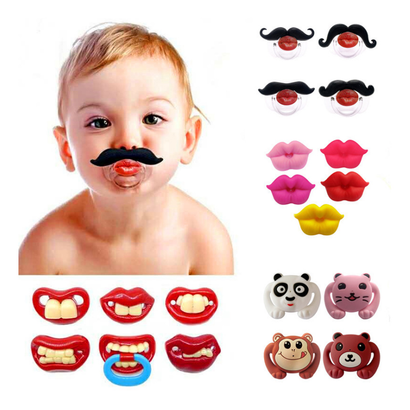 1PCS Food Grade Silicone Funny Baby Pacifiers Dummy Nipple Teethers Toddler  Orthodontic Soothers Teat For Baby Pacifier Gift