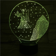 Western zodiac signs Night Light LED Touch Sensor 7 Color Changing Childrens Kids Baby Nightlight Gift Virgo Table Lamp desk