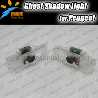 Car Led Door Logo Welcome Light Ghost Shadow Lamp Plug And Play For Peugeot 408 508