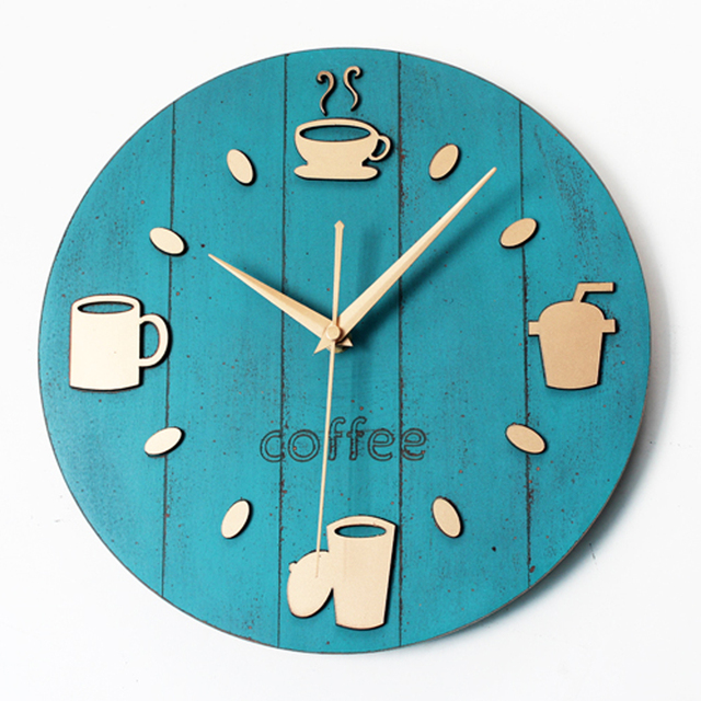 Ordinaire Creative 3D Wall Clock Modern Design Coffee Time Kitchen Clocks Vintage  Retro Art Tableware Wall Watch
