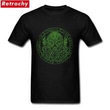 Brand Design Creative Men Cthulhu Seal T Shirt Mans Soft Cotton Round Neck Streetwear 2XL Size Movie Tee Online Men