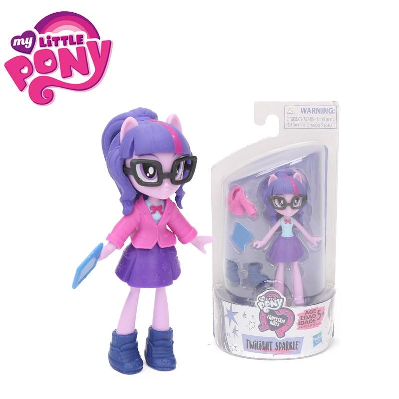 Toys Action-Figure Collection Twilight Sparkle Rainbow-Dash Pinkie Pie Equestria Girls