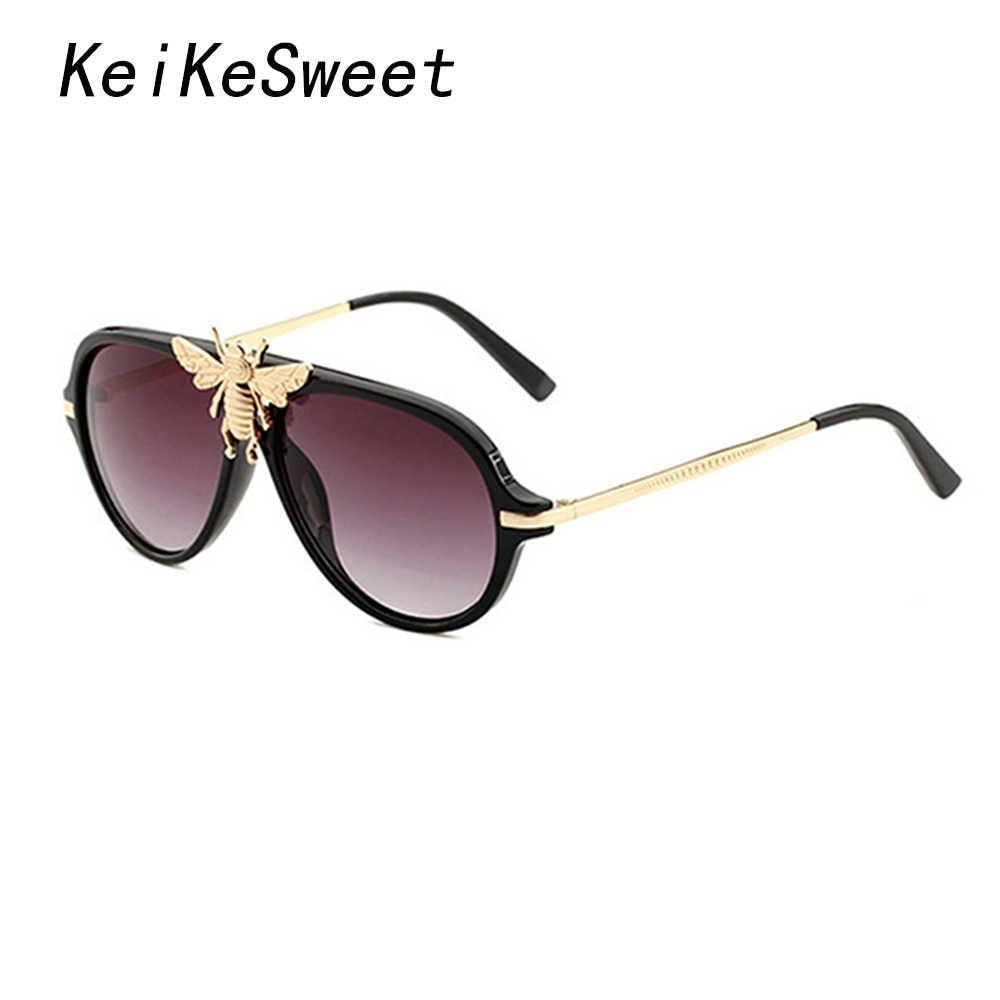 e05461429d KeiKeSweet Luxury Brand Designer Women Men Oversized Rays Sunglasses Hot  New Vintage Party Shades Male Sun