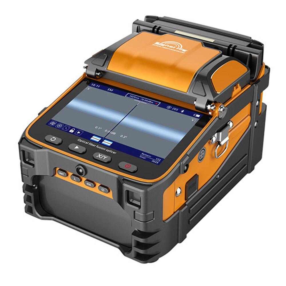 AI-9 de signalisation six moteurs épisseuse optique épisseuse de fusion de fiber intégrée à la fonction de compteur de puissance VFL