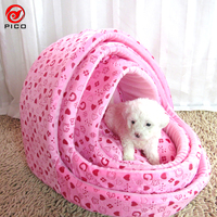 48 48cm Winter Warm Pet Dog House For Small Dog Cute Printed Puppy Cat Soft Kennel