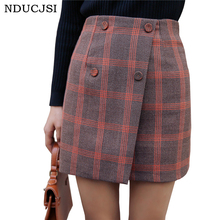 Winter Skirts Women s A Line Plaid Tartan Wool Pleated Vintage Empire Plaid Skirts Tartan Skirts