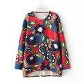 Free Shipping 2017 Women Hoody Spring Autumn Long Sleeve Casual Sweatshirts Cute Print Hoodies Moleton Feminine
