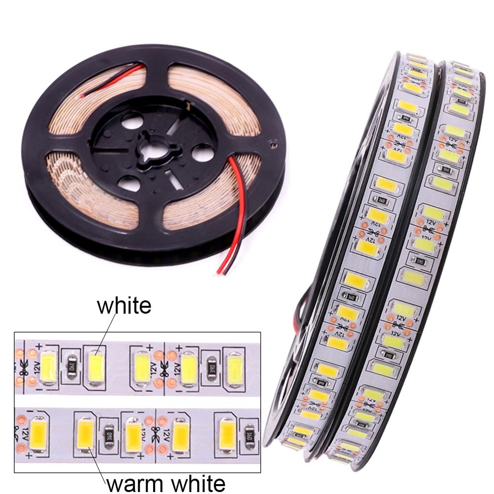 New 1m 2m 3m 4m 5m LED Strip Light SMD 5630 120leds/m Non Waterproof Flexible 5M 600 LED Tape 5730 DC12V Tape Rope Lamp Light