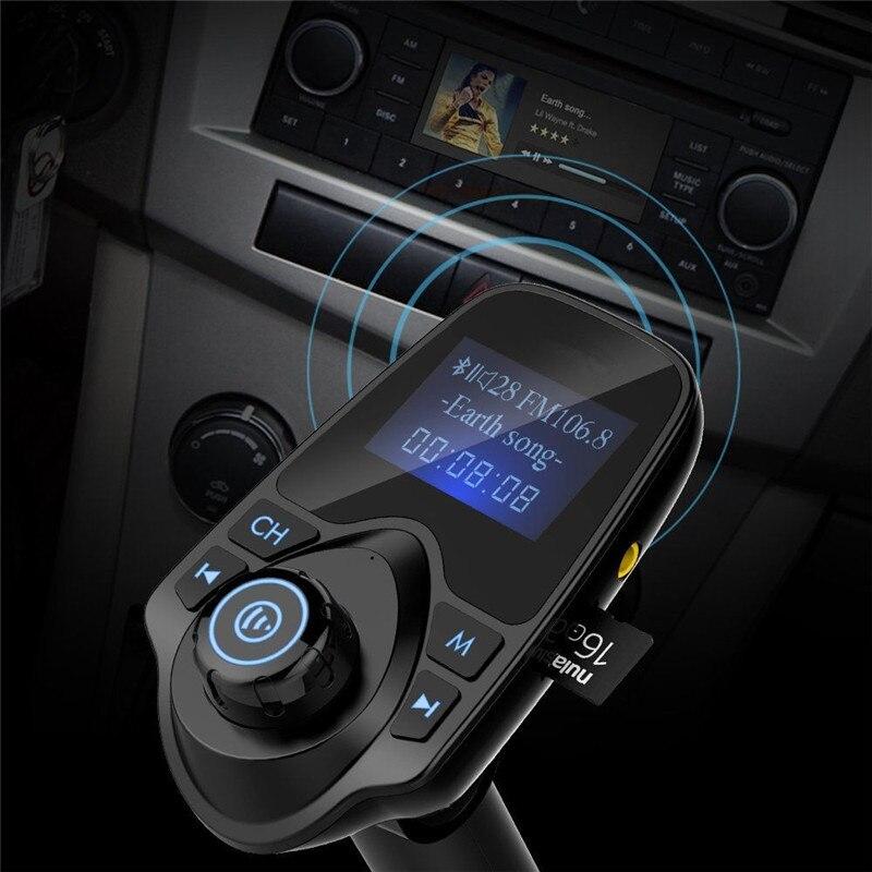 Juhtmevaba Bluetooth-autokomplekt Vabakäeseade FM-saatja - Autode Elektroonika - Foto 6