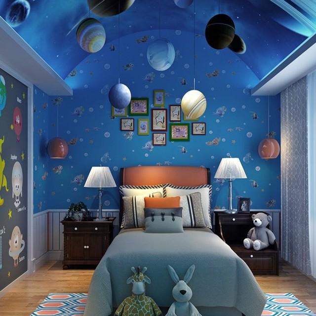 Free Shipping Cute Kids Room Underwater World Nonwovens Wallpaper
