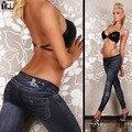 2016 Горячие продажа женщины мода печати жан леггинсы Панк-стиль леди брюки свободный размер девушки брюки мода jeggings Бесплатная Доставка