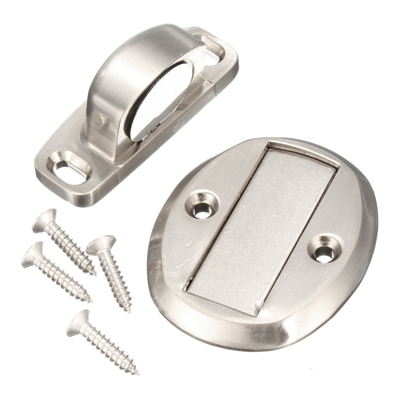 wholesale price chrome magnetic door holder stopper doorstop door stop wall mounted safety catch 4 colors
