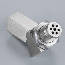 Yetaha 135 градусов O2 Датчик кислорода промежуточный Двигатель свет CEL Check Bung мини каталитический конвертер для резьбы M18 X 1,5