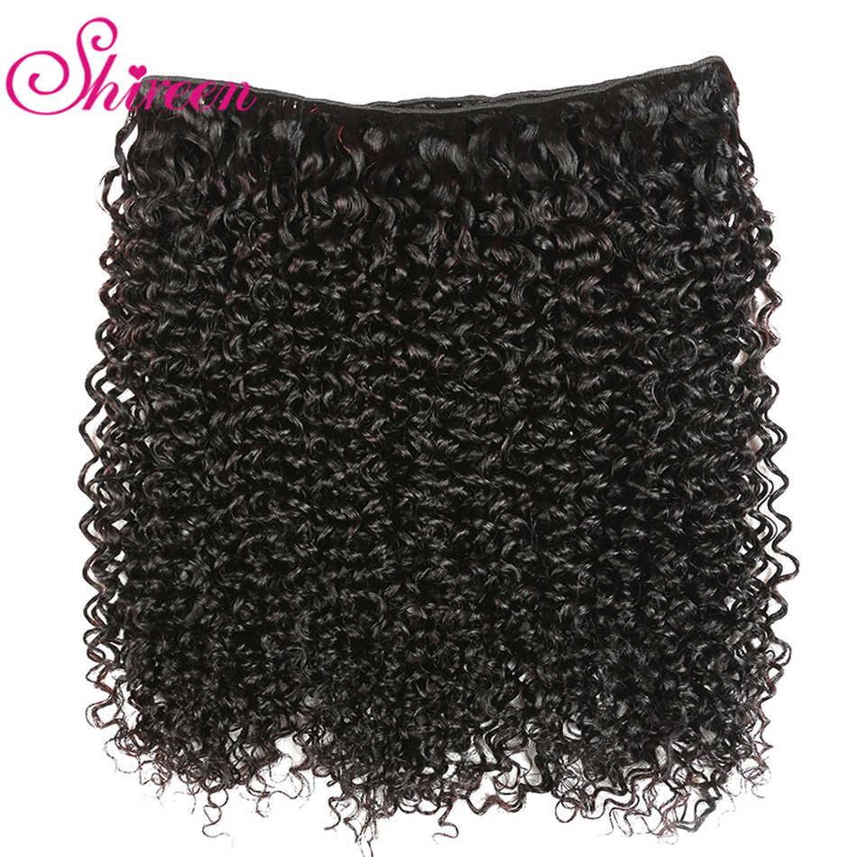 Brasileiro Kinky Curly Hair Bundles 100% Remy Tecer Cabelo Brazillian 3 Bundles Natural Cor kinky Onda Extensões de Cabelo Humano