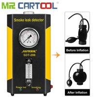 Mr Cartool SDT206 12 в автомобильный трубопровод утечка детектор дыма машина Автомобильная труба для авто утечка дымит генератор вход воздушный меш