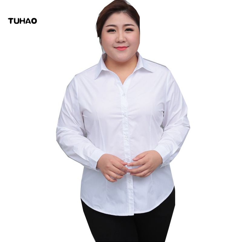 TUHAO office lady   Blouses     Shirts   Plus Size 5XL 6XL 8XL 10XL 2018 summer Women's   Blouse     Shirts   female   Blouse   clothing YN03