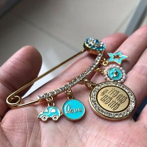 Image 5 - ZKD moslim islam Allah vier Qul suras Rvs Pin broche Baby Pin