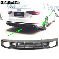 A4 B9 S4 SLine 3PCS Carbon Fiber Rear Bumper Lip Diffuser With Side Splitter for Audi A4 B9 2016UP(Only Sline S4)