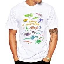 2017 Men Fashion Summer Clothing Bait pattern Printed T Shirt Men s Short Sleeve O Neck