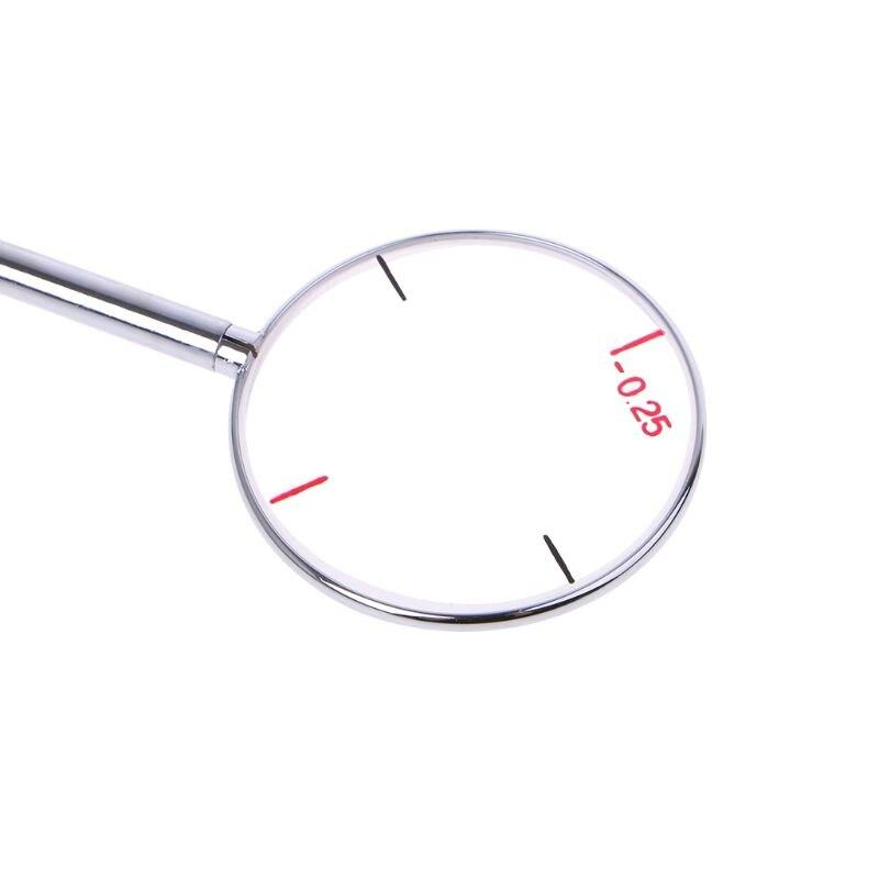 Круглый оптический поперечный цилиндр объектив оптические инструменты инструмент глазная линза 0,25/0,50 диоптрий оптометрические аксессуары