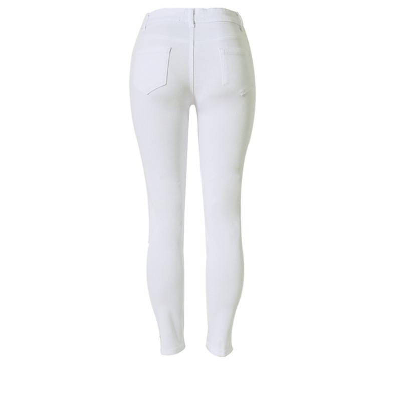 14d0a8dbb8a Ripped Jeans for Women Elegant Vintage White Skinny Pants Elasticity High  Waist Pencil Jeans Plus Size-in Jeans from Women s Clothing on  Aliexpress.com ...