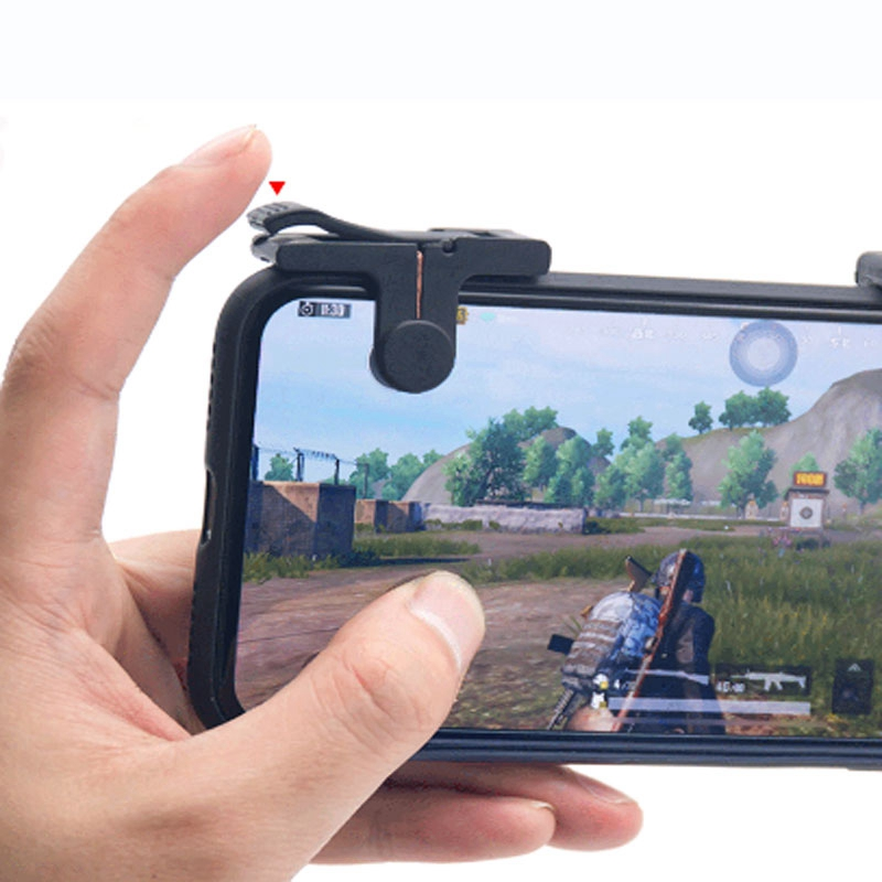 Image 5 - 1 Pair Phone Mobile Gaming Handle for L1R1 Shooter Controller PUBG Game-in Gamepads from Consumer Electronics