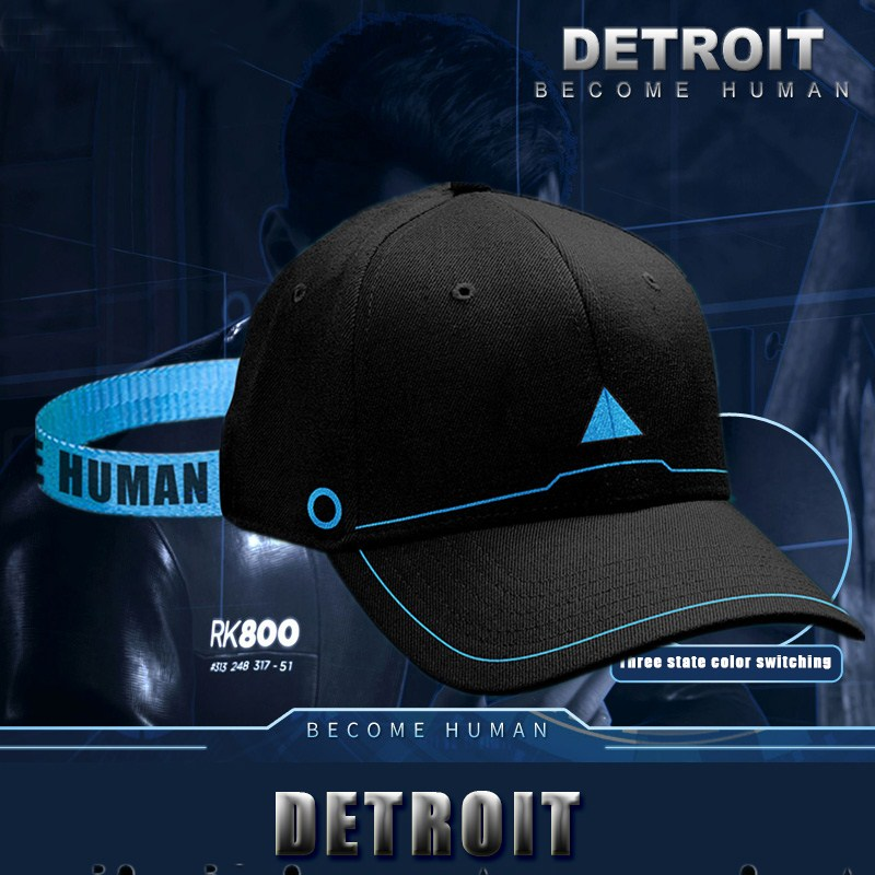 Game Detroit Become Human Connor Topee Cosplay Costumes Hip Hop Unisex Sun Baseball Caps Adjustable Peaked Hat Fitted Snapback
