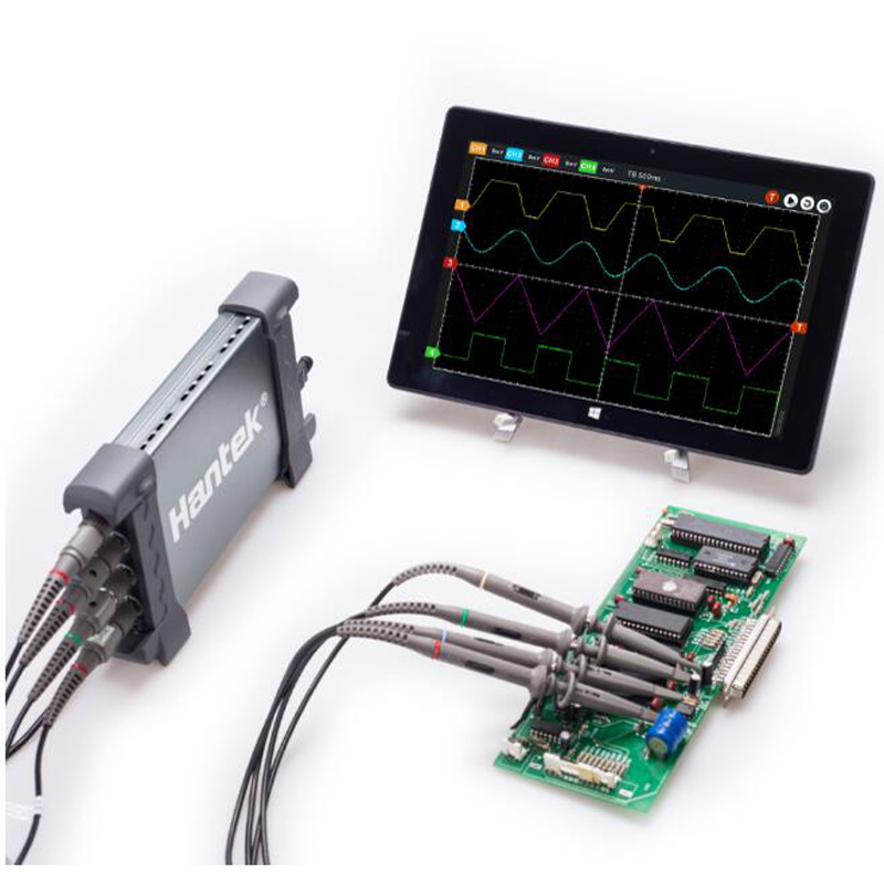 Hantek 6204BC PC USB Oscilloscope with 4 independent analog channels 200MHz 1GSa/s waveform record and replay осциллограф hantek 6022be usb storag 2channels 20 48msa s