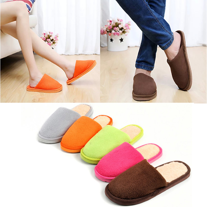 NEW Women Men Home Anti-slip Shoes Soft Warm Cotton Sandal House Indoor Slippers 2017 new anti slip women winter martin