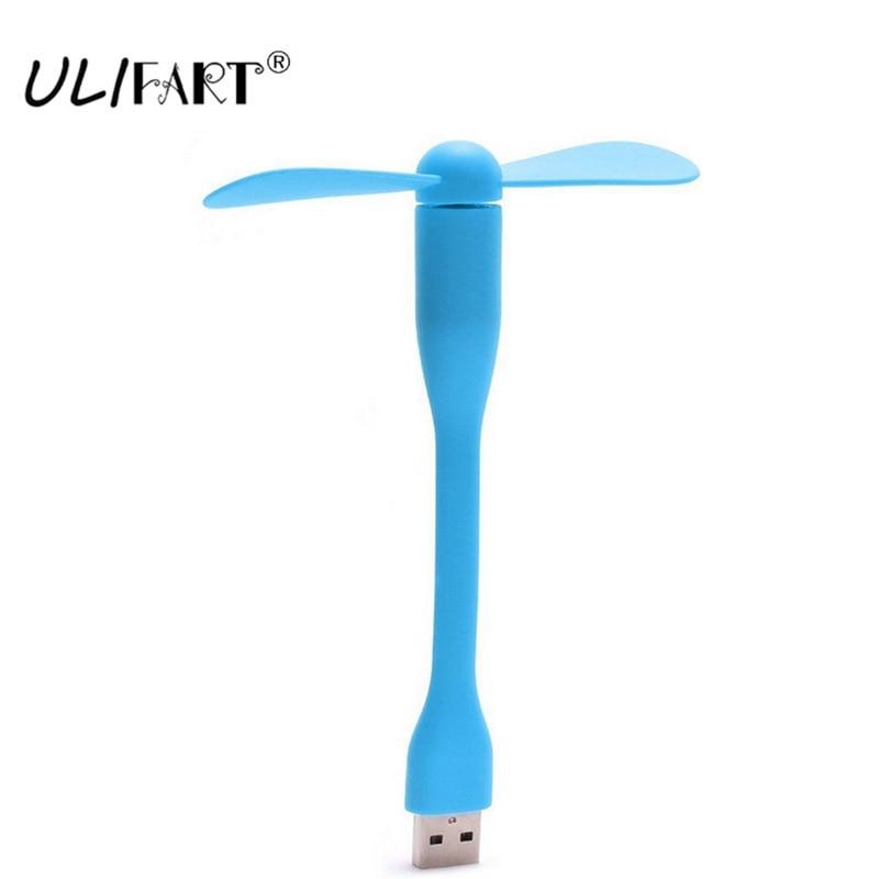 USB bærbar fleksibel ventilator Gadzety Universal USB-drevet skrivebordsventilatorlomme Farverig køler Køling PC Gadgets til computerskærm