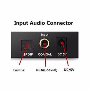 3,5 мм RCA цифро-аналоговый аудио усилитель конвертера декодер Оптическое волокно коаксиальный USB ЦАП усилители USB кабель Spdif стерео