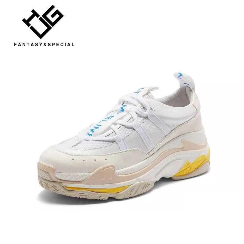 Femmes High Mujer Dame Pour blanc En Mocasines Véritable Street Sneakers Cuir Ugi Fond Plat forme Noir Blanc Épais Chaussures Plate 81qx4wZETg